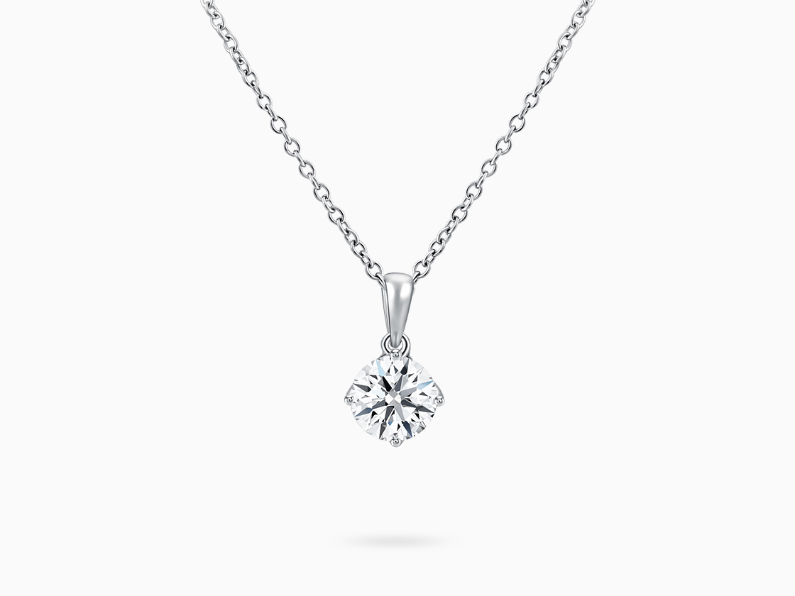 Lab Grown Diamond Necklace, 18K